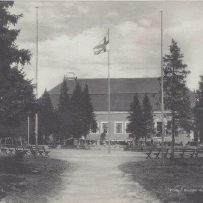 Umeå. Gamm-lia Förlag: Reinhold Hjortsbergs Pappershandel, Umeå Poststämplat 1924-12-08 Ägare: Åke Runnman 9x14