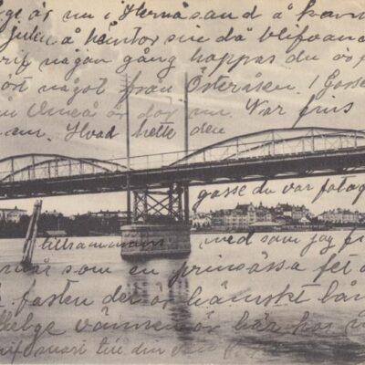Umeå Brefkort K 6764 Poststämplat 1908-11-29 Ägare: Åke Runnman 9x14