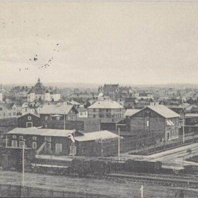 Umeå Förlag: Reinhold Hjortsbergs Pappershandel Poststämplat 1912-02-15 Ägare: Åke Runnman 9x14