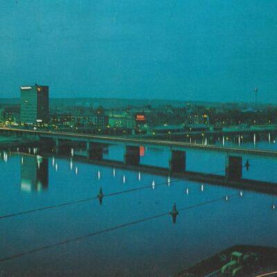 UMEÅ. Tegsbron i kvällsbelysning Förlag: K. Rune Lundström AB, Skellefteå Poststämplat 1979-08-13 Ägare: Ivar Söderlind 10x15