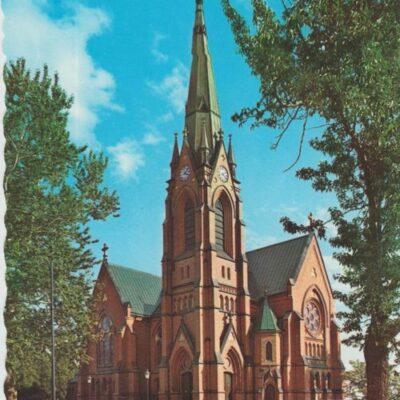 Umeå stads Kyrka AB GRAFISK KONST Poststämplat 1966-09-28 Ägare: Ivar Söderlind 10x15