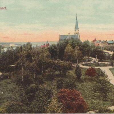 Vy från Residenset. Umeå Förlag Nya Cigarrhandeln, Umeå Poststämplat 1914-10-12 Ägare: Ivar Söderlind 9x14