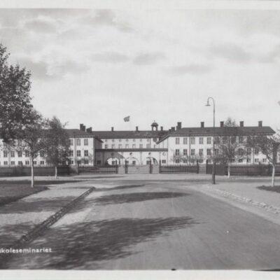 UMEÅ Folkskoleseminariet Svenska Pressbyrån 6071 Poststämplat 1946-03-04 Ägare: Ivar Söderlind 9x14