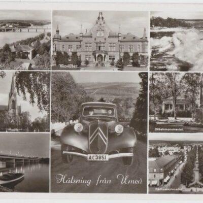 Hälsning från Umeå Förlag: Fjellströms Pappershandel Eftr. A. G. Delin, Umeå Poststämplat 1954-03-07 Ägare: Ivar Söderlind 9x14