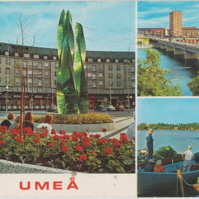 UMEÅ Hallens reklamtryck Poststämplat 1983-08-03 Ägare: Ivar Söderlind 10x15