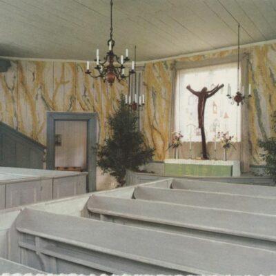 Interiör, Helena Elisabeths kyrka, Gammlia, Umeå Förlag: Fjellströms Pappershandel Eftr. Sven Sandberg, Umeå Ocirkulerat Ägare: Ivar Söderlind 10x15