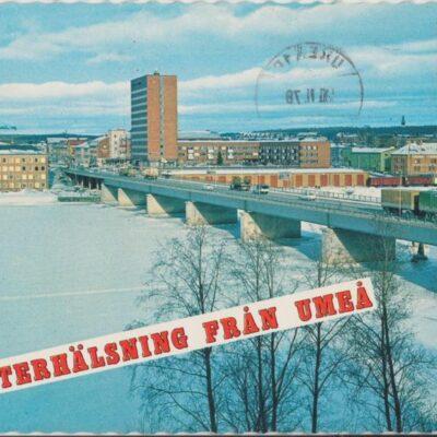 VINTERHÄLSNING FRÅN UMEÅ Färgfoto: Giovanni Trimboli Poststämplat 1978-11-20 Ägare: Ivar Söderlind 10x15