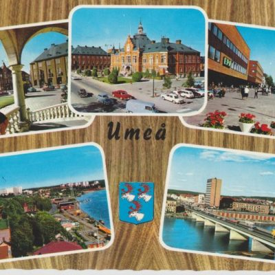 Umeå Förlag: Fjellströms Pappershandel Eftr. Umeå Poststämplat 1973-06-27 Ägare: Ivar Söderlind 10x15