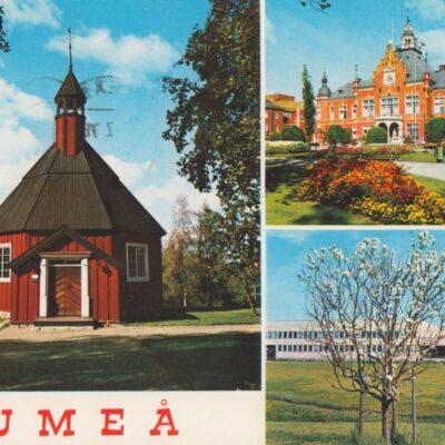 Hälsningar från Umeå Hallens foto Poststämplat 1970-07-08 Ägare: Åke Runnman 10x15