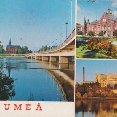 UMEÅ Hallens Reklamtryck Poststämplat 1985-07-08 Ägare: Åke Runnman 10x15