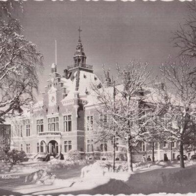UMEÅ. Rådhuset Pressbyrån 22252 Poststämplat 13/1 1957 Ägare: Åke Runnman 10x15