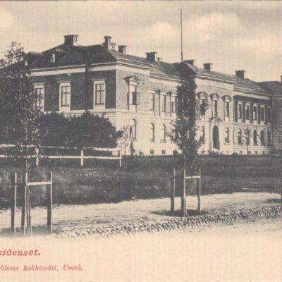 Länsresidenset. Umeå Johan Åkerbloms Bokhandel, UmeåOcirkuleratÄgare: Åke Runnman9x14