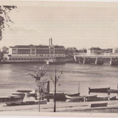 Bron över Umeå älv Förlag: Reinhold Hjortsbergs Pappershandel, Umeå Ocirkulerat Ägare: Ivar Söderlind 9x14