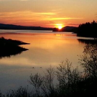 2014-05-24 Kvällsbild från bron i söder Foto: Linda Öhrman