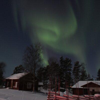 2016-01-20 Rolf Wahlberg var nere vid hembygdsgården i minus 27 grader och fick några fantastiska bilder på norrskenet Foto: Rolf Wahlberg