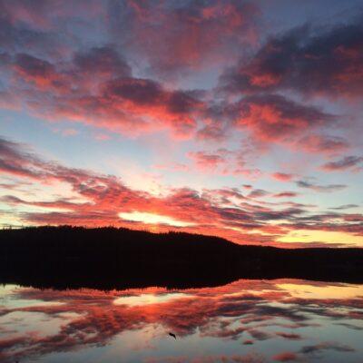 2015-10-17 En vacker kvällsbild från Vargträsk Foto: Agnes Edholm