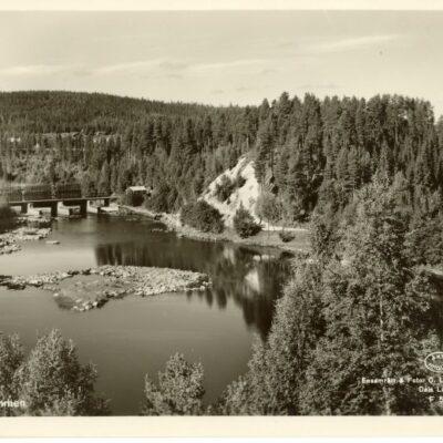 Augusti 2007 Här kommer två nya vykort över dammen som tydligen tagits vid samma tillfälle. Bilderna är något förskjutna men i övrigt lika. Någon som vet när ungefär dessa kort har tagits?