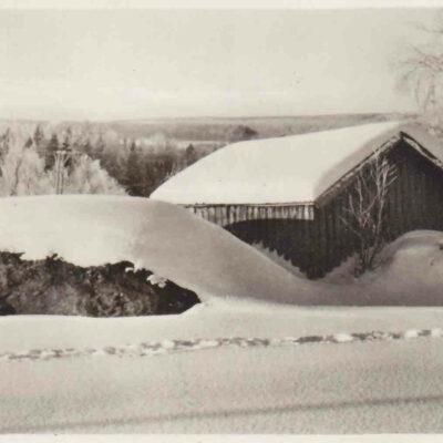 BJURHOLM. Förlag: Anderssons Bok & Pappershandel, Bjurholm. Poststämplat 5/12 1952 Ägare: Åke Runnman 9x14