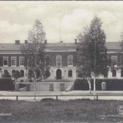 Umeå. Länsresidenset. Förlag: Reinhold Hjortbergs Pappershandel, Umeå. Ocirkulerat. Ägare: Åke Runnman. 9x14