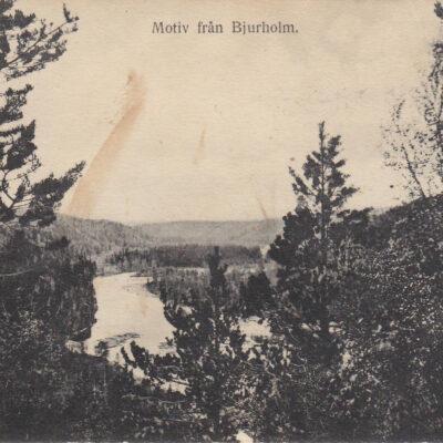 Motiv från Bjurholm Förlag: Bjurholms Handels-A.B. Plundrat Ägare: Åke Runnman 9x14