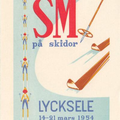 Poststämplat 1954-03-17 Ägare: Åke Runnman 9x14