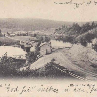 Ångermanland. Motiv från Agnäs. Poststämplat 22.12.1905. Ägare: Åke Runnman