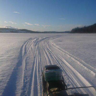 2020-03-22 Örträsksjön ligger platt. Foto: Göran Andersson