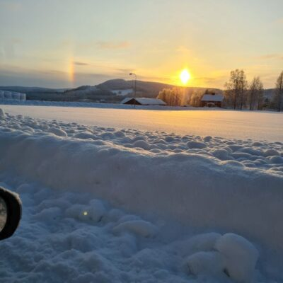 2021-02-04 En vacker solbåge över Vitberget  Foto: Lena Lagedal
